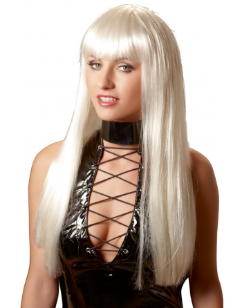 Perruque blonde platine cheveux longs