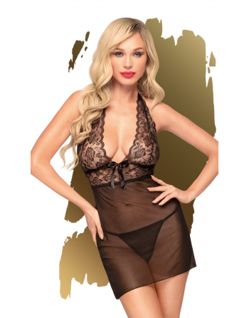 Mini robe et string assorti Noir Sweet & spicy