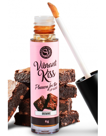 Gloss sexe oral vibrant au brownie 100% comestible