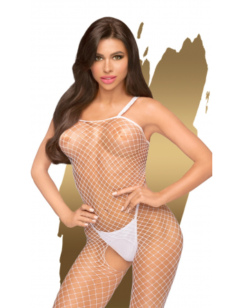 Bodystocking ouvert à l'entrejambe Blanc Body search