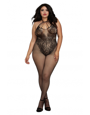 Bodystocking grande taille résille style Body