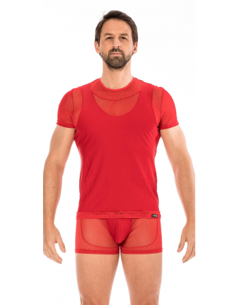 T-shirt rouge Midnight - LM2103-81RED