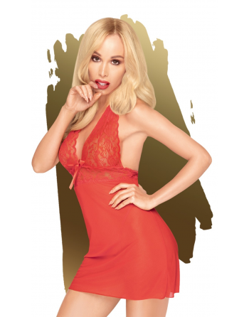 Nuisette et string assorti Rouge Sweet  spicy - PH0003RED